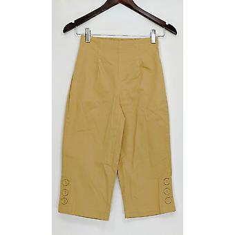 Denim & Co. Women's Pants XXs Timeless Stretch Pedal Pushers Beige A89432