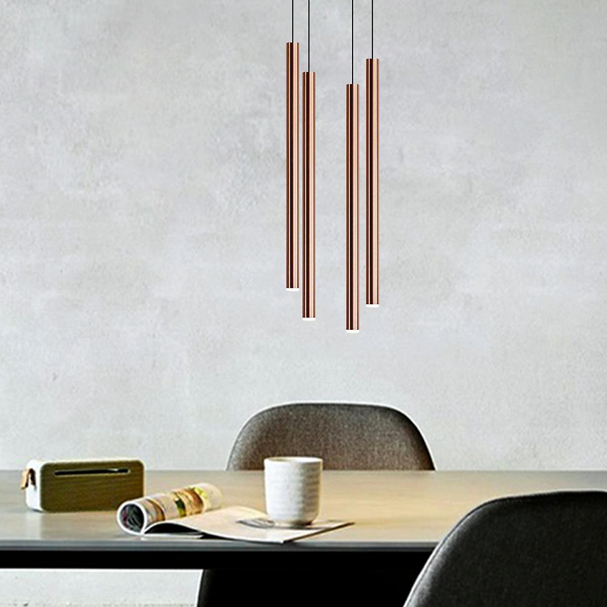 Modern Vintage Hanging Ceiling Pendant Light Fixture Brass 4 Pendant Square Canopy