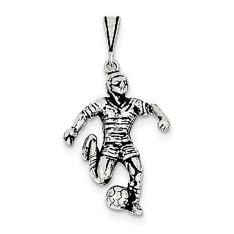 925 Sterling Silber Antik Fußballer Charme - 3,5 Gramm