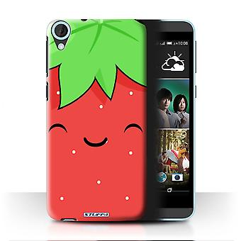 STUFF4 Case/Cover for HTC Desire 820s Dual/Strawberry/Kawaii Food