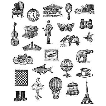 Tim Holtz s'accrochent grand Rubber Stamp Set choses minuscules Cms Lg 164