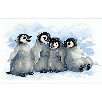 Funny Penguins Counted Cross Stitch Kit 15.75