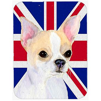 Chihuahua with English Union Jack British Flag Mouse Pad, Hot Pad or Trivet SS4916MP