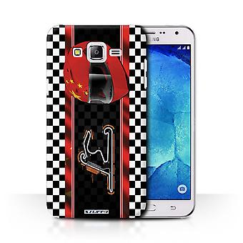 STUFF4 Case/Cover for Samsung Galaxy J7/J700/China/Shanghai/F1 Track Flag