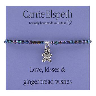 Carrie Elspeth Love, Kisses and Gingerbread Wishes Sentiment Stretch Bracelet