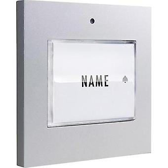 Bell button backlit, with nameplate Detached m-e modern-electronics 41048 Silver 8-24 V AC/DC/1 A