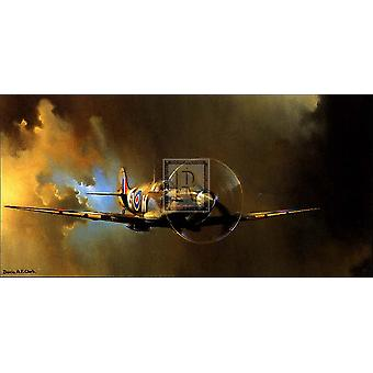 Spitfire Poster Print by Barrie A F Clark (40 x 23)
