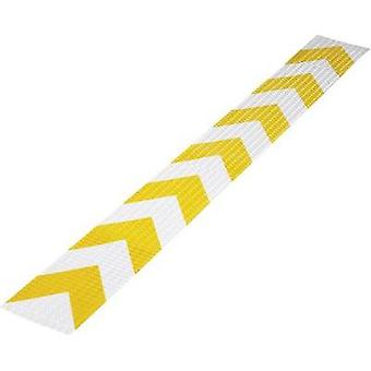 Warning stripe Conrad Components RTS Yellow, Silver (L x W) 1 m x 115 mm Content: 1 pc(s)