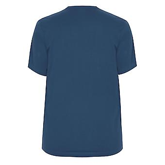 BadRhino Blue Crew Neck Basic T-Shirt - TALL