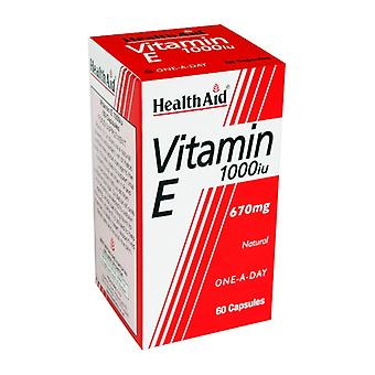 Health Aid Vitamin E 1000iu Natural ,  60 Capsules