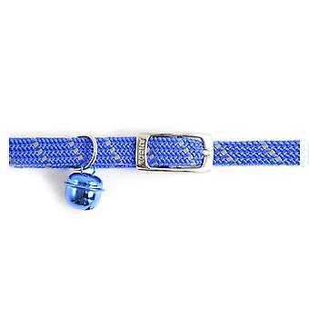 Safety Elastic Cat Collar Softweave Blue (Pack of 3)