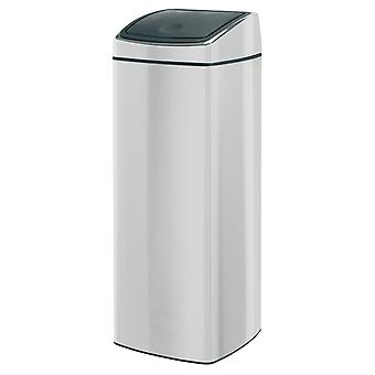 Brabantia 25 Litre Rectangular Touch Bin in Matt Steel