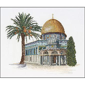 Dome Of The Rock On Aida Counted Cross Stitch Kit-11.5