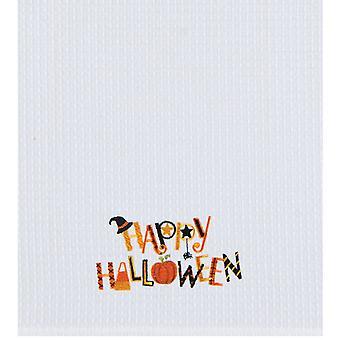 Happy Halloween höpöttää kutoa keittiö pyyhe 27 tuumaa noita hattu Spider kurpitsa