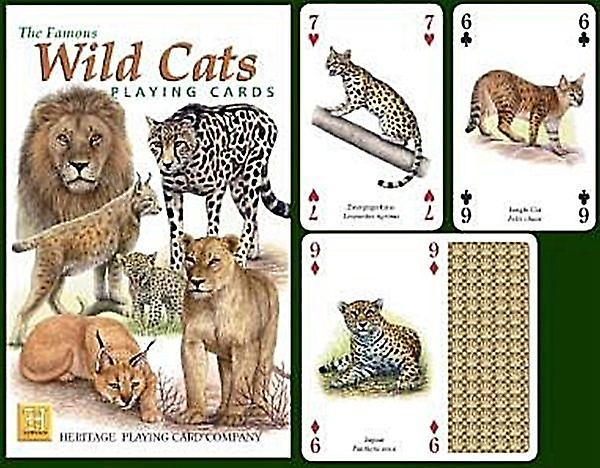 Wild Cats set of 52 playing cards (+ jokers)    (hpc)