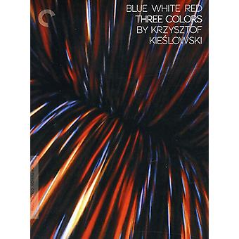 Trzy kolory: Niebieski biały czerwony [DVD] USA import
