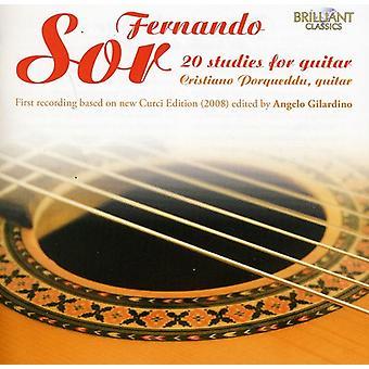 F. Sor - Fernando Sor: 20 Studies for Guitar [CD] USA import