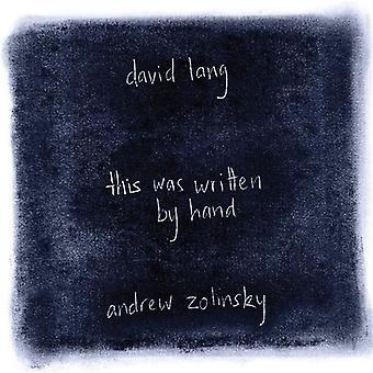 Lang - David Lang: Denne var skrevet af hånd [CD] USA import