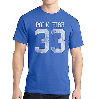 Gift med børn Polk høj 33 mænd kongeblå T-shirt