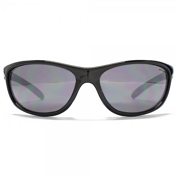 Animal Pipe Oval Wrap Sunglasses In Black