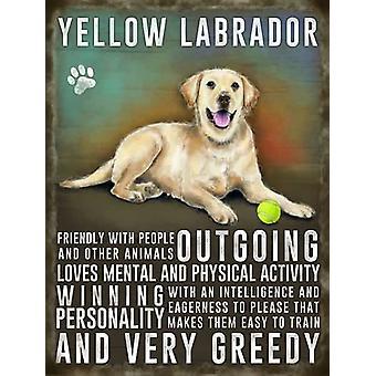 Medium Wall Plaque 200mm x 150mm - Yellow Labrador
