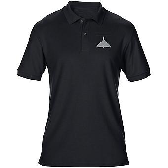 Avro Vulcan Bomber RAF broderad Logo - Mens Polo Shirt