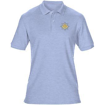 Royal Anglian regementet broderad Logo - officiella brittiska armén Mens Polo Shirt