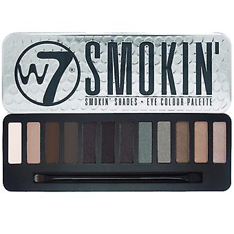 W7 Smokey Eye Shadow Colour Palette 12 Smokin' Shades Make Up Cosmetic Kit Set