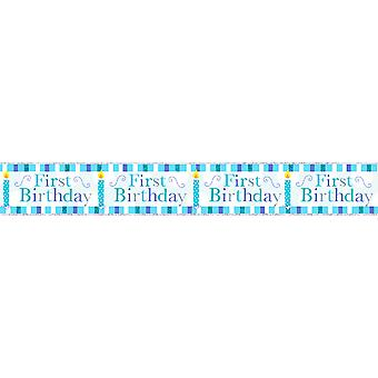 Simon Elvin Baby Boys/Girls First Birthday Foil Party Banner