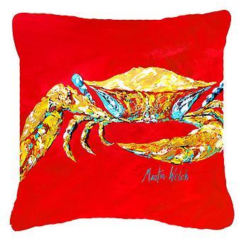 Голубой краб на красном, Sr холст ткани декоративные подушки