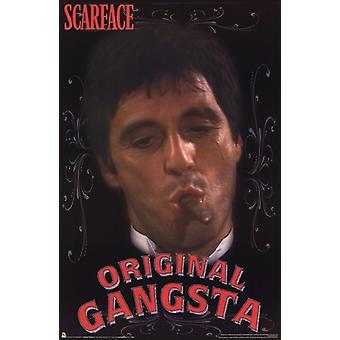 Scarface - originele Gangsta Poster Poster afdrukken