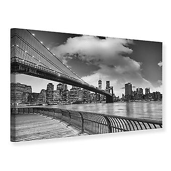Canvas Print Skyline Black And White Photography Brooklyn Bridge NEW