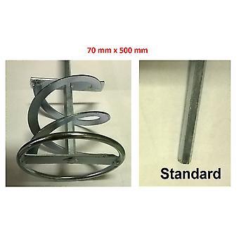 Miscelazione Paddle Standard chuck 70 mm larghezza x 500 mm di lunghezza