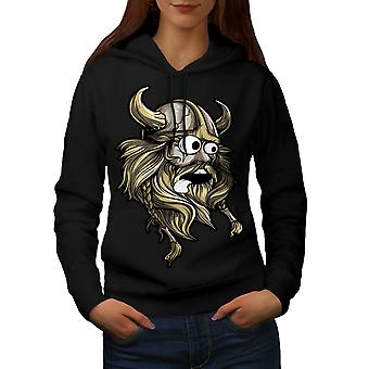 Scared North Joke Women BlackHoodie | Wellcoda