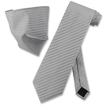 Vesuvio Napoli gestreifte Krawatte & Taschentuch passenden Hals Krawatte Set