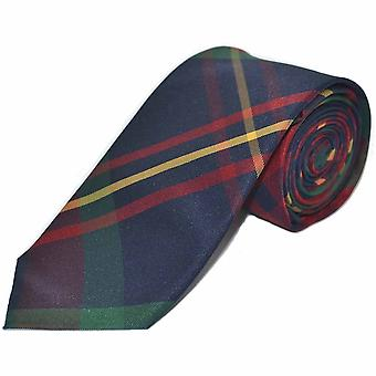 Contemporary Red / Blue Tartan Check Tie, Necktie