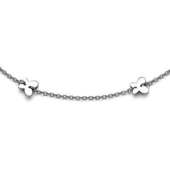 Stainless Steel Simple Butterfly Ankle Bracelet - Spring Ring