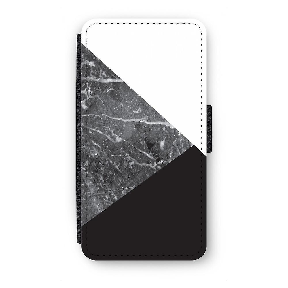 Huawei P9 Flip Case - marmer combinatie