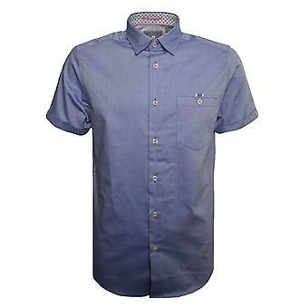 Ted Baker Men's Blue Wallo Short Sleeved Shirt