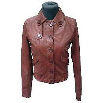 Womens Western Rust Leather Jacket