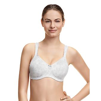 Susa 8105-291 Women's Valletta Light Grey Floral Non-Padded Non-Wired Support Coverage Moulded Full Cup Bra
