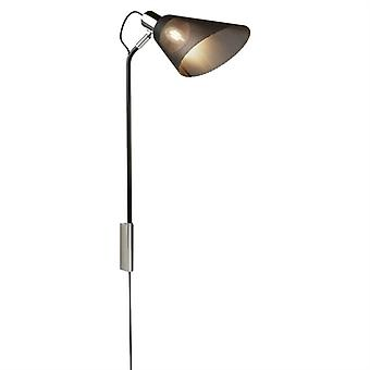 Plexus Black Wall Lamp With Mesh Shade - Searchlight 6085CC