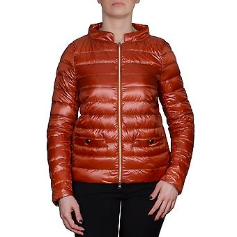 Herno women's PI0757D5308 Orange nylon Quilted Jacket