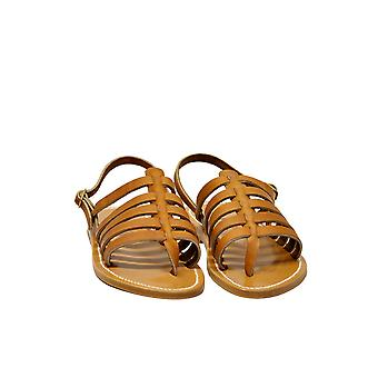 K Jacques women's HOMEREFCUIRPULNATUREL brown leather sandals
