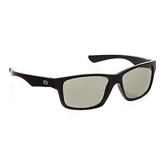 Animal Reflector Sunglasses - Matte Black / Smoke