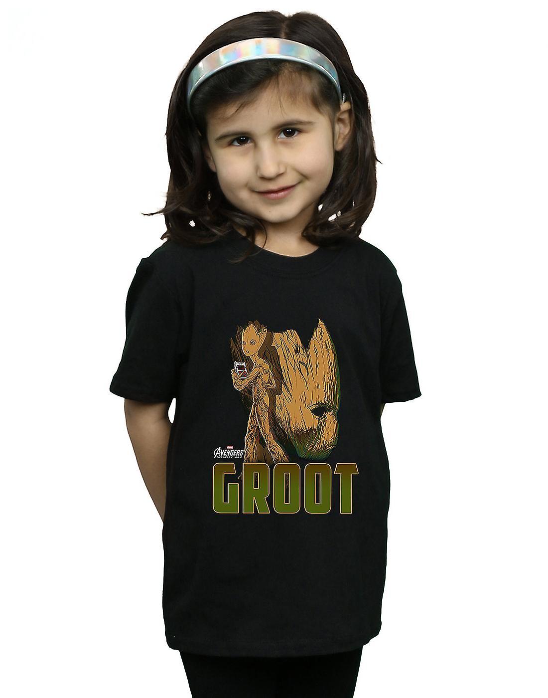 Merveille filles Vengeurs Infinity War Groot caractère T-Shirt