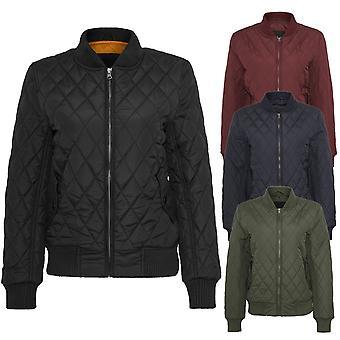 Urban classics ladies - diamond BOMBER nylon Quilted Jacket