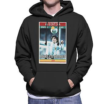 Sporting Legends Poster Argentina Diego Maradona World Cup 1960 Men's Hooded Sweatshirt