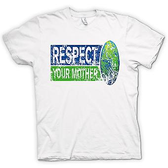 Womens T-shirt - Respect Your Mother Earth - Funny