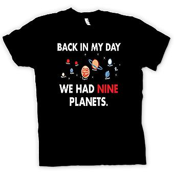 Kids T-shirt - Back In My Day We Had Nine Planets - Pluto
